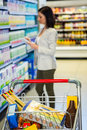 Pretty woman checking list Royalty Free Stock Photo