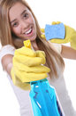 Pretty Woman Cleaning Royalty Free Stock Image