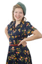 Pretty woman with clothes 1940 Royalty Free Stock Photo