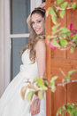 Pretty woman dressed for party, prom or graduation Royalty Free Stock Photo