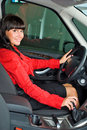 Pretty woman - driver Royalty Free Stock Photo