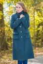 Pretty Woman In Gray Coat On N...