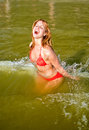 Pretty woman having fun Royalty Free Stock Image
