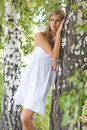 Pretty woman outdoor Stock Images