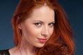 Pretty woman with red hair Royalty Free Stock Photos