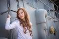 Pretty woman sailor Royalty Free Stock Photo