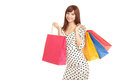 Pretty woman with shopping bags Royalty Free Stock Images