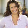 Pretty woman smiling. Stock Image
