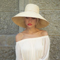 Pretty woman in straw hat beautiful young lady the palace Stock Photography