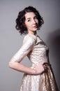 Pretty woman wearing a dress Royalty Free Stock Photo
