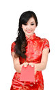 Pretty women with cheongsam Stock Image