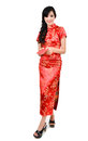 Pretty women with cheongsam Royalty Free Stock Photography