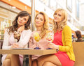Pretty women at the meeting middle day Royalty Free Stock Images