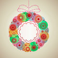 Pretty wreath christmas copyspace to center Stock Image
