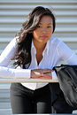 Pretty young Asian business woman Stock Photos