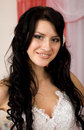 Pretty young brunette bride Stock Image
