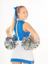 Pretty young cheerleader portrait of active Royalty Free Stock Images
