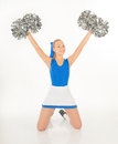 Pretty young cheerleader portrait of active Stock Photography