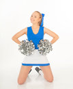 Pretty young cheerleader portrait of active Royalty Free Stock Photos