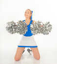 Pretty young cheerleader portrait of active Royalty Free Stock Photography
