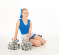 Pretty young cheerleader Royalty Free Stock Photo