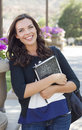 Pretty Young Female Student Portrait on Campus Royalty Free Stock Photo