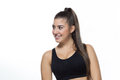 Pretty young fitness-girl Royalty Free Stock Photo