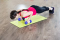 Pretty young girl fitness workout gym Stock Image