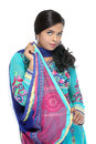 Pretty young Indian girl in chudidhar Stock Images