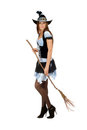 Pretty young woman with a besom