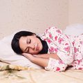 Pretty young woman sleeping Stock Photos