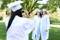 Pretty Young Women at Graduation Stock Photography