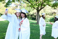 Pretty Young Women at Graduation Stock Image