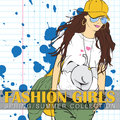 Prety fashion girl in sketch style vector illustration Stock Photos