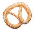 Pretzel fresh isolated on a white background Royalty Free Stock Photography