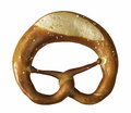 Pretzel a german baked bread product named in white back Stock Photo