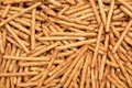 Pretzel rods stick for background and texture Stock Photo