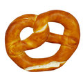 Pretzel warm isolated on a white background Royalty Free Stock Photography