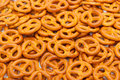 Pretzels heap of small goldish Royalty Free Stock Photography