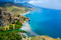 Preveli - Vacation in Crete with Paradise coast Royalty Free Stock Photo