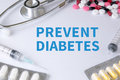 PREVENT DIABETES Royalty Free Stock Photo