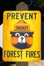 Prevent Forest Fires Sign Stock Photos