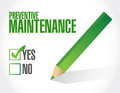 Preventive maintenance approval sign concept illustration design over white Stock Images