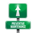 Preventive maintenance road sign concept illustration design over white Stock Images