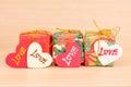 Prezenta pudełko z miłością Fotografia Stock