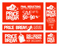 Price break banners. Stock Images