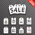 Price Sale Text Tag Symbol Labels Icons Set Background Template Vector Illustration