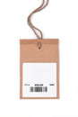 Price tag with barcode Royalty Free Stock Photo