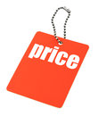 Price tag with copy space isolated on white background Royalty Free Stock Images