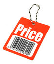 Price tag with fake bar code Royalty Free Stock Photography